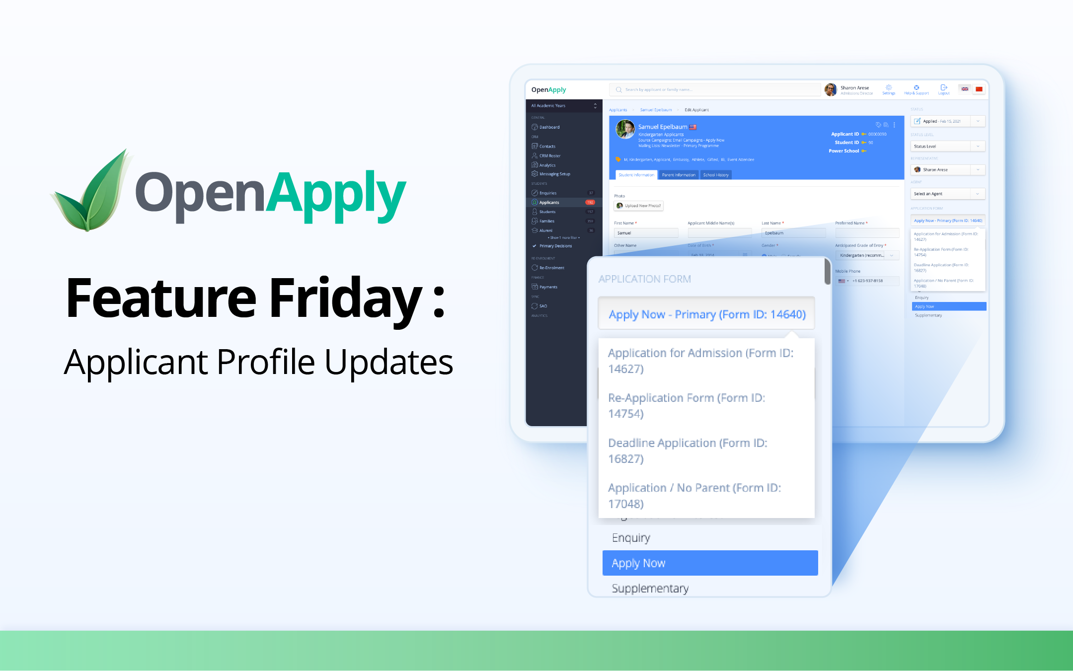 Feature Friday – Applicant Profile Updates
