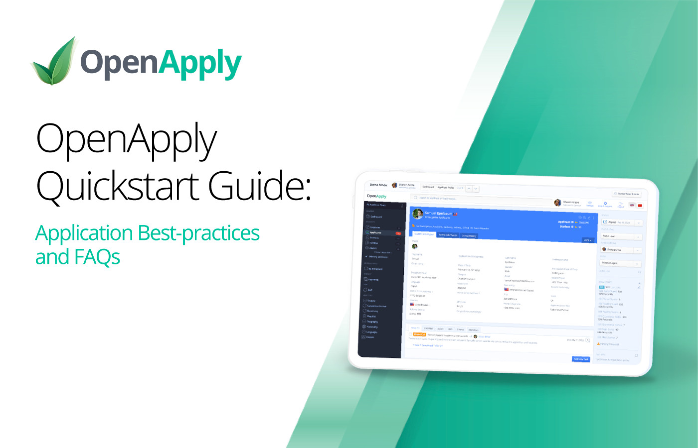 OpenApply QuickStart Guide: Application Best-practices and FAQs